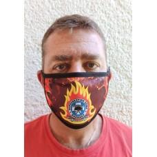 Μάσκα υφασμάτινη με λογότυπο και φόντο